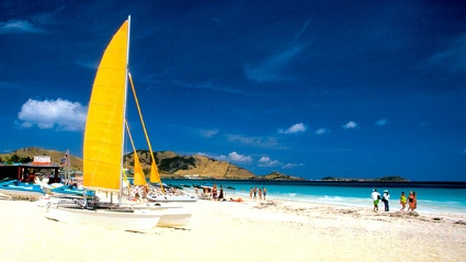 Martin Orient Beach auf Karibikinsel St. Martin (Quelle: Thinkstock by Getty-Images)