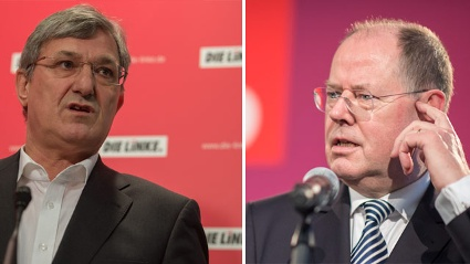 Linke-Chef Riexinger rt Steinbrck zum Rckzug (Quelle: dapd)