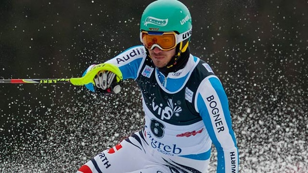 Ski alpin: Felix Neureuther stark in Zagreb . Felix Neureuther beim Slalom in Zagreb (Quelle: dpa)