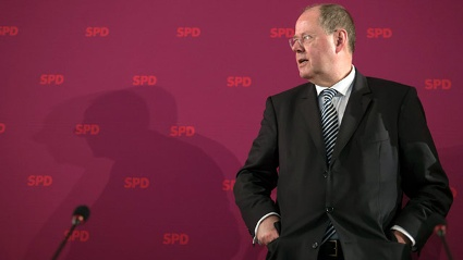 Kanzlerkandidat Peer Steinbrck  (Quelle: dapd)