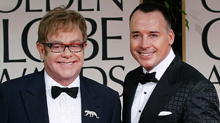 Elton John und sein Gatte David Furnish (Quelle: Reuters)