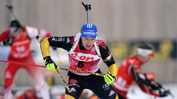 Biathlon Antholz 2013: Andreas Birnbacher verpasst das Podest haarscharf . Andreas Birnbacher verpasst in Antholz knapp das Podest. (Quelle: imago/Sven Simon)