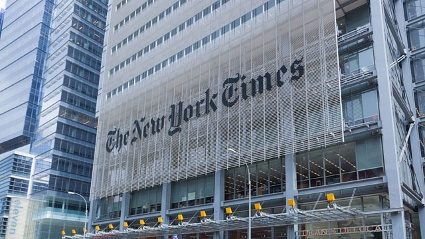 Firmenzentrale der New York Times (Quelle: imago\Rdiger Wlk)