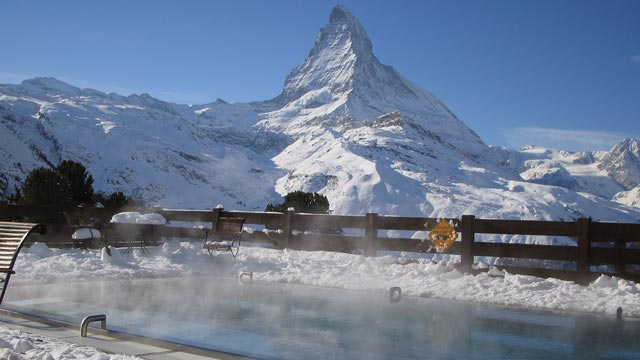 Hotel Riffelalp in Zermatt: Hier steht Europas hchstgelegener Auenpool