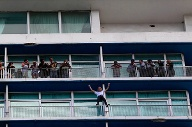"""Spiderman"" Alain Robert am Hotel ""Habana Libre"". (Quelle: Reuters)"