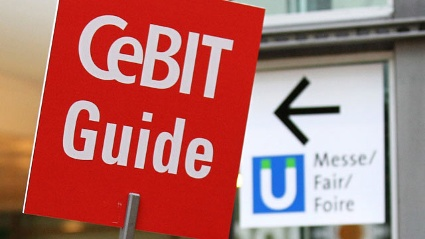 CeBIT-Schild (Quelle: Deutsche Messe Hannover)
