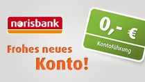 Girokonto fr 0,- Euro (Quelle: norisbank)