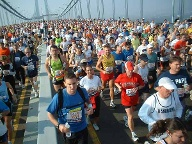 City-Marathon in New York, Verrazano-Bridge. (Quelle: SRT /Martineric )