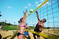 Trainingscamps mit Beachvolleyball-Profis im Club Aldiana. (Quelle: SRT /Aldiana)