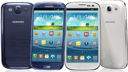 Samsung Galaxy S3 in schwarz und wei (Quelle: Samsung)