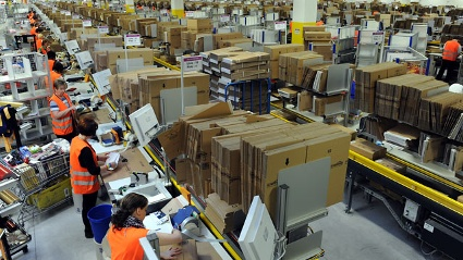 Amazon-Logistikzentrum in Bad Hersfeld (Quelle: dpa)