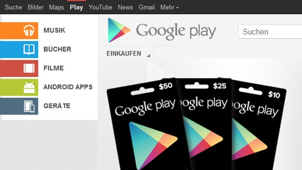 Google Play verrät Nutzerdaten. Googles Android-Shop Google Play (Quelle: Google)