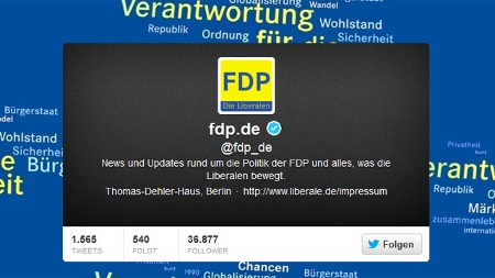 Twitter-Account der FDP. (Quelle: Screenshot t-online.de)