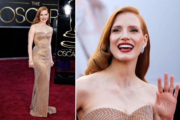 Jessica Chastain bei der Oscar-Verleihung 2013 (Quelle: Reuters)