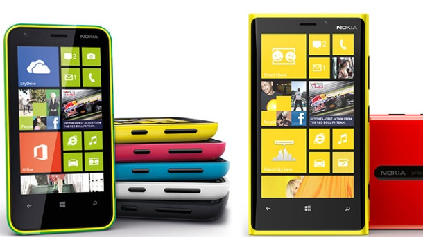 Windows Phone 8 bekommt Major Update noch 2013. Nokia-Smartphones mit Windows Phone 8 (Quelle: Hersteller)