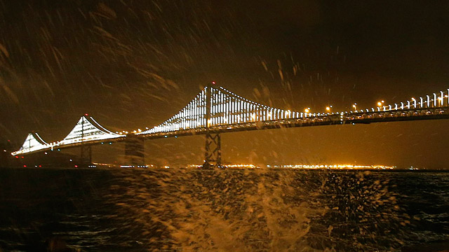 San Francisco: 25.000 LEDs machen Bay Bridge zum Kunstwerk