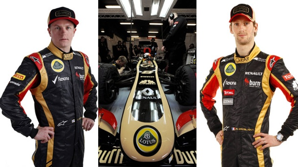 Lotus im Formel-1-Formcheck. Kimi Räikkönen (li.) und Romain Grosjean steuern den neuen Lotus. (Quelle: Kombo: imago/Crash Media Group/PanoramiC)