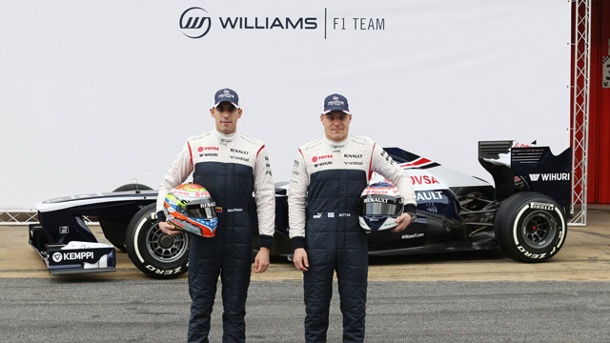 Williams im Formel-1-Teamcheck. Pastor Maldonado (li.) und Valtteri Bottas wollen mit Williams auch 2013 siegen. (Quelle: imago/ Crash Media Group)