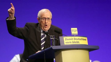 Rainer Brderle stimmt seine Partei auf den Bundestagswahlkampf ein. (Quelle: dpa)