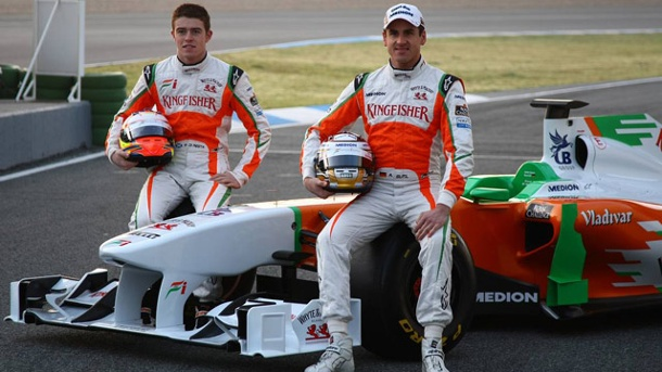Force India im Formel-1-Formcheck. Paul di Resta (li.) und Adrian Sutil steuern den Force India VJM06. (Quelle: xpb)