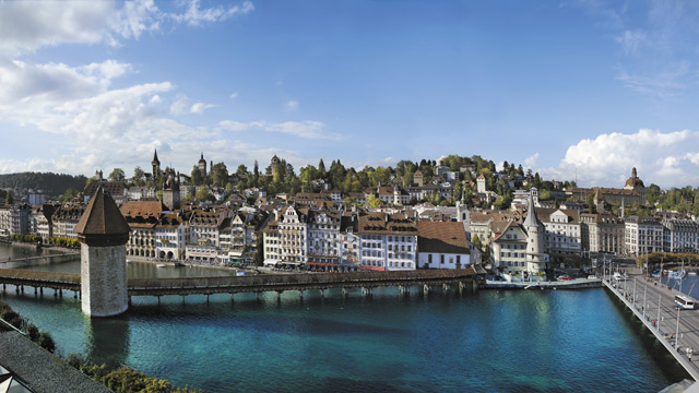 Luzern - die Stadt,  der See,  die Berge