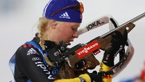 DSV-Biathletin Miriam Gssner. (Quelle: imago / Golovnoc + Kivrin)
