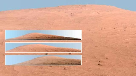 Der Mount Sharp auf dem Mars.  (Quelle: Reuters)