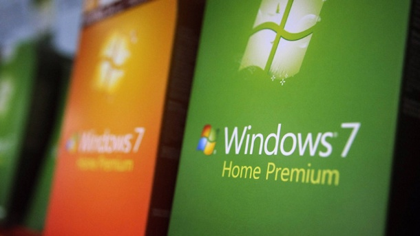 Microsoft beendet Mainstream Support für Windows 7. Windows 7 Boxen (Quelle: imago/UPI Photo)