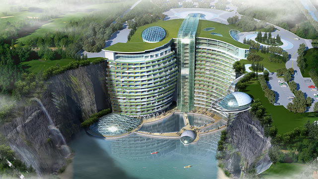 Intercontinental Shanghai Wonderland: Ein Hotel im Steinbruch,  Songjiang,  China