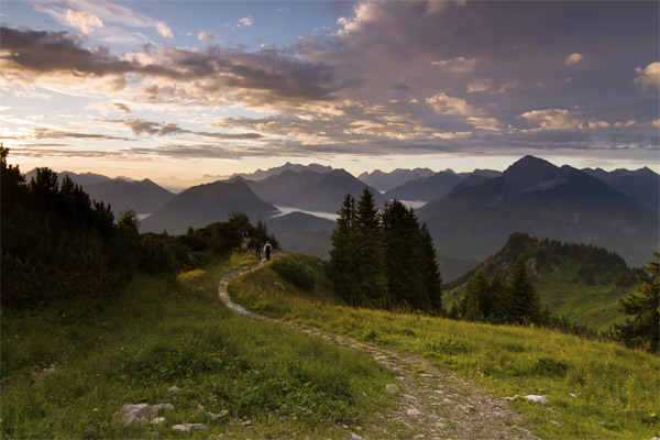 Wanderweg: Bayerischer Wald. (Quelle: Thinkstock by Getty-Images)
