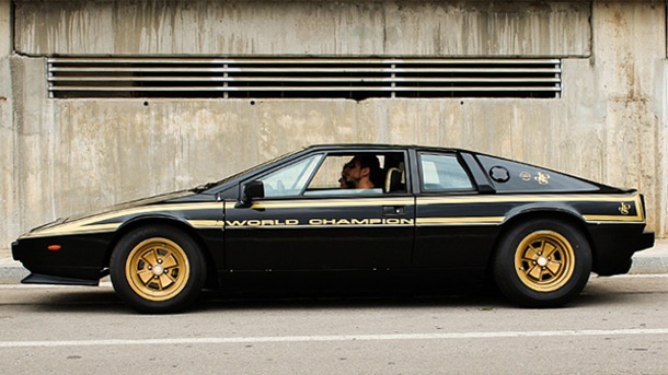 "Lotus Esprit S2 John Player Special Edition. Lotus S2 ""John Player Special Edition Nr. 27 ROW"" (Quelle: Motor 77)"