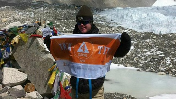 Mount Everest: Teenager mit Down-Syndrom erreicht Basislager. Eli Reimer: Erster Teenager mit Down-Syndrom im Basiscamp des Mount Everest. (Quelle: AFP / ELISHA FOUNDATION)