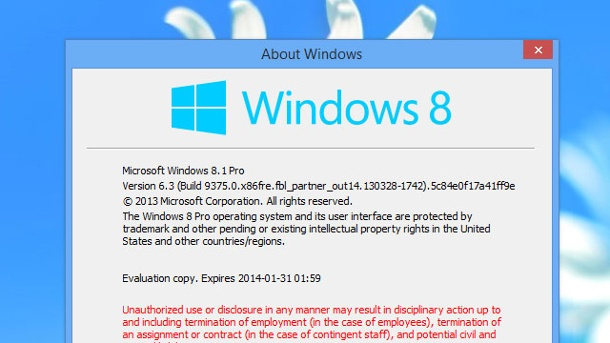 Windows 8 wird bald abgelöst: Windows 9 steht in den Startlöchern. Screenshot von Windows 8.1 Alpha (Quelle: Winforum.eu)