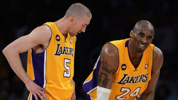 Kobe Bryant: Achillessehne zwingt Lakers-Star zur Zwangspause. Kobe Bryant von den Los Angeles Lakers (Quelle: dpa)