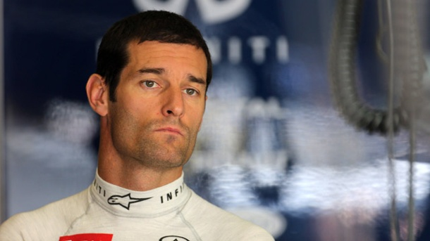 Für Mark Webber kommt es in China knüppeldick. Mark Webber ist nach dem China-Grand-Prix bedient. (Quelle: imago/Crash Media Group)