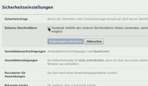 Schutz fr Ihren Facebook-Account (Screenshot: dpa)