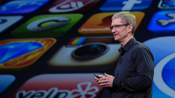 Apple iPhone XL: Kein Smartphone in Größe des Samsung Galaxy S4. Apple-CEO Tim Cook  (Quelle: imago/Xinhua)