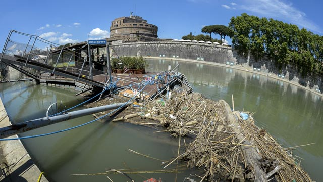 Tiber in Rom zu schmutzig fr Touristenboote