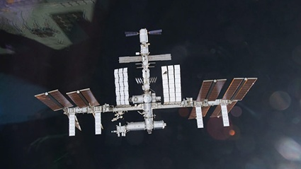 ISS space station leak (source: Picture Alliance / EPA Nasa handout)