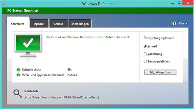 Windows 8: Den bordeigenen Virenschutz perfektionieren