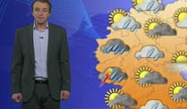 Aktuelle Wettermeldungen im Wetter-Studio  (Quelle: Meteomedia)