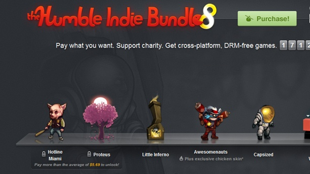 Humble Indie Bundle 8 sammelt mehr als 2 Millionen Dollar ein. Humble Indie Bundle 8 (Quelle: Humble Bundle Inc.)