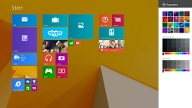 Startbildschirm von Windows 8.1 alias Windows Blue (Quelle: Microsoft)