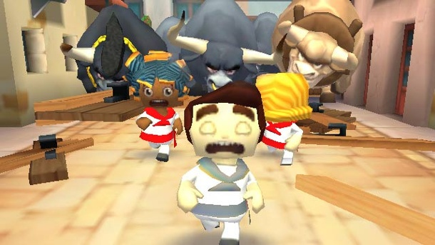 Running with Friends im Test: Die Hatz durch Pamplona. Running with Friends Endless-Runner für iOS von Zynga (Quelle: Zynga)