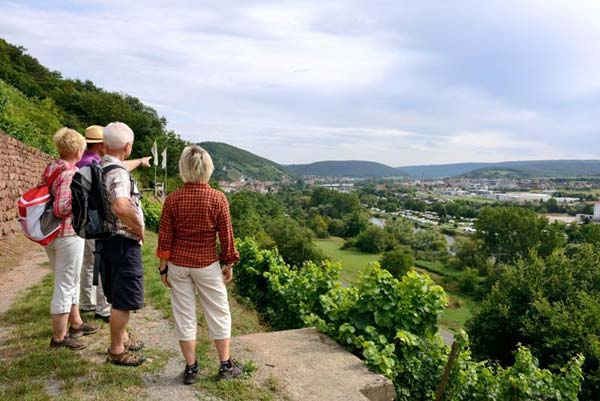 Wandern in Franken. (Quelle: SRT /Churfranken )