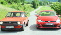 Golf 1 GTD versus Golf 7 GTD (Foto: United Pictures)