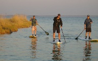 Stand-up-Paddling auf dem Barther Bodden. (Quelle:  Surfcenter Wustrow)
