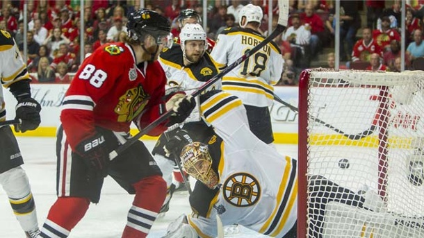 Chicago Blackhawks holen den NHL-Stanley Cup gegen Boston Bruins. Die Chicago Blackhawks sind Stanley-Cup-Sieger 2013. (Quelle: imago/ZUMA Press)