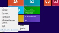 Mini-Startmenü von Windows 8.1 (Quelle: t-online.de)