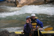 Rafting-Guide Geoff Doolittle am Chattooga River. (Quelle: Richard Conely)
